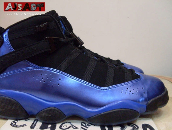 air jordan 6 rings black and blue